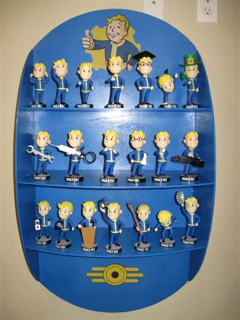 bobblehead vault 101 diy fallout 4 shelf with vault 101 vault 111 bobbleheads
