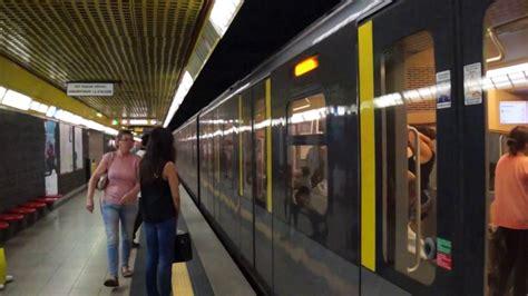 porta romana metro atm milan metro line 3 arriving at porta romana