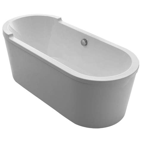 home depot freestanding bathtubs whitehaus collection bathhaus 5 9 ft lucite acrylic center drain oval freestanding