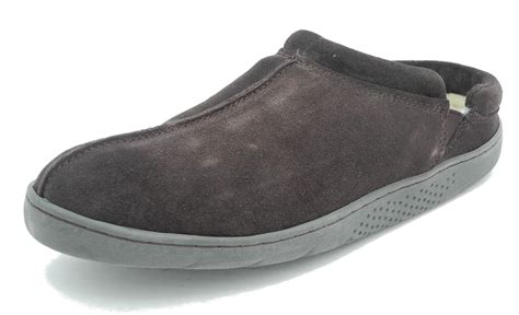 mens leather clogs mens mokkers real suede leather fur lined clogs mules slippers brown size 9 ebay