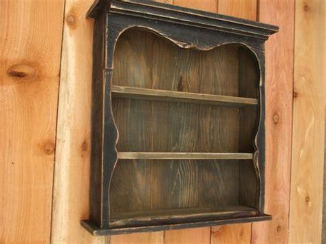 buy  hand  shabby chic style black wall shelf