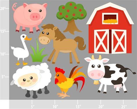 Barn Animals Clipart farm animals digital clip personal and commercial use barnyard animals cow barn