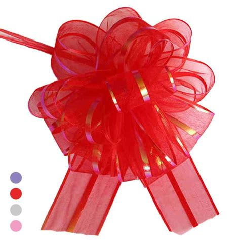 diy decorations ribbon pull flower ribbon bow gift wrap box accessories diy