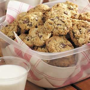chocolate chip oatmeal cookies recipe taste of home