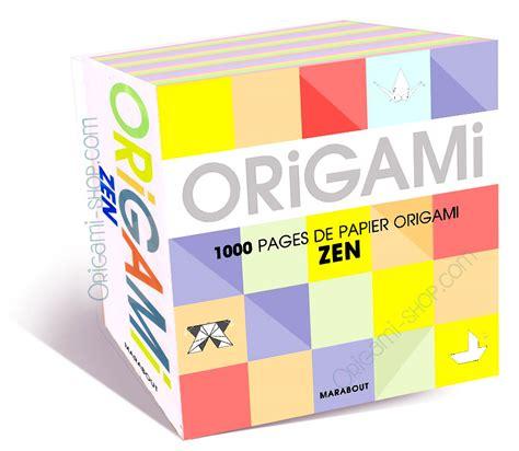 Origami Zen - bloc 1000 origamis papiers zen