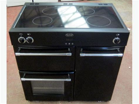 induction hob and fan oven belling classic 90ei black 90cm electric range cooker induction hob fan ovens bilston dudley