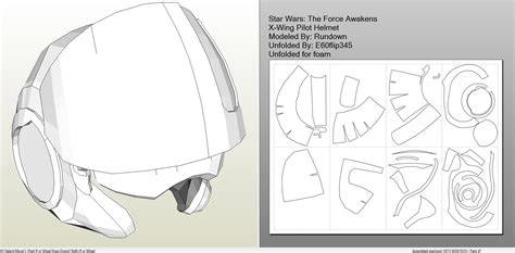 foamcraft pdo file template for star wars tfa x wing