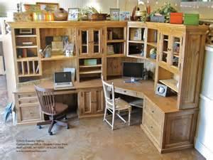 Double Corner Desk Country Willow Home Office Double Corner Desk