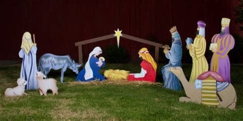 decor seasonal buy outdoor nativity scene full set 13