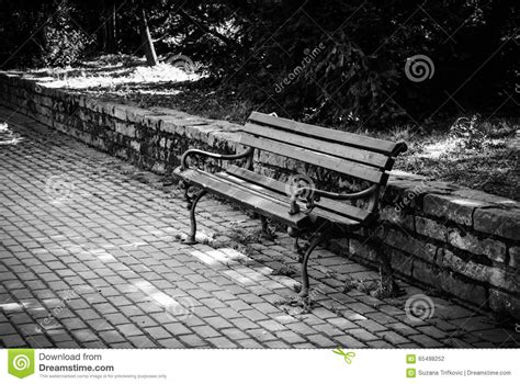 bench srbija bench srbija lonely bench stock photo image of bricks black white