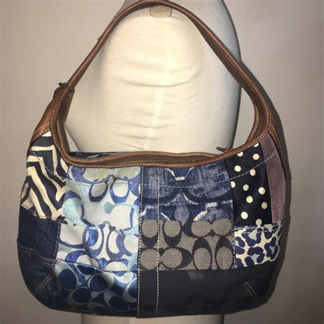 Coach Ergo Patchwork Tote by 80 Coach Handbags Authentic Coach Denim Patchwork