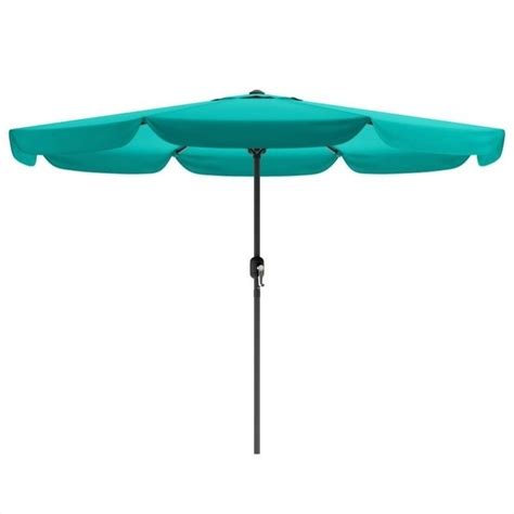 tilting patio umbrella in turquoise blue ppu 260 u