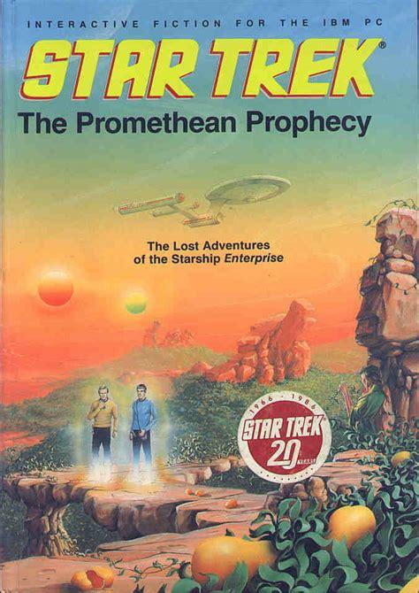 the promethean books trek the promethean prophecy 1986 apple ii box