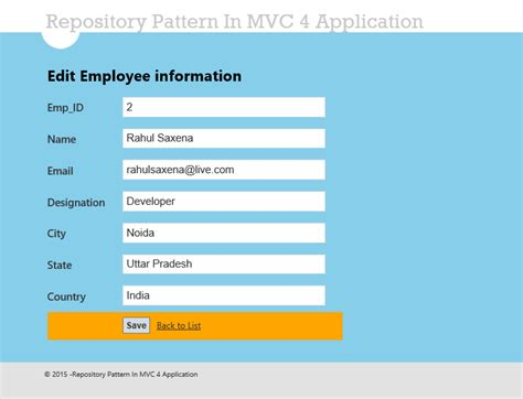 repository pattern in mvc 4 database first repository pattern in mvc application using entity framework