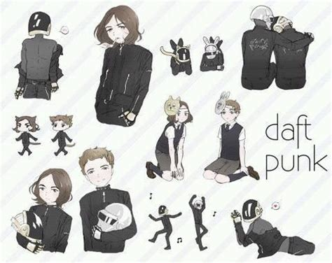 daft punk anime daft punk kawaii fan art