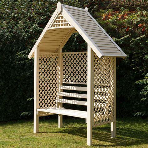 Garden Arbor Seat Grange Valencia Wooden Garden Arbour Seat Gardener