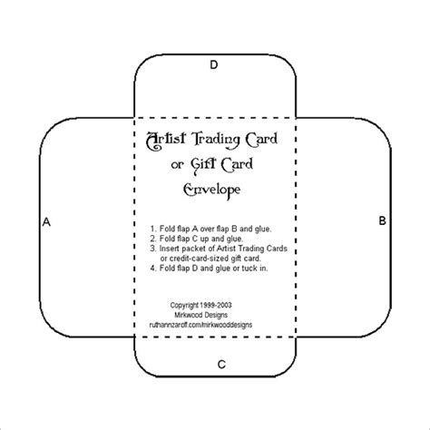 downloadable credit card template for 10 gift card envelope templates free printable word