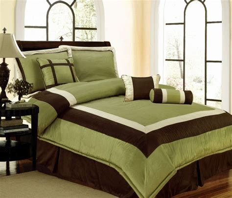 details about new bedding green brown white hton