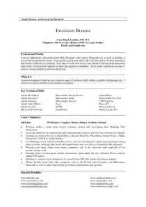 Resume Help Profile Exles Of Profiles On Resumes Resume Profile Exles