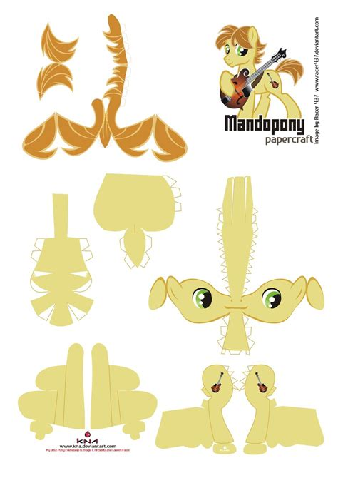 Papercraft Pattern - mandopony papercraft pattern by kna on deviantart