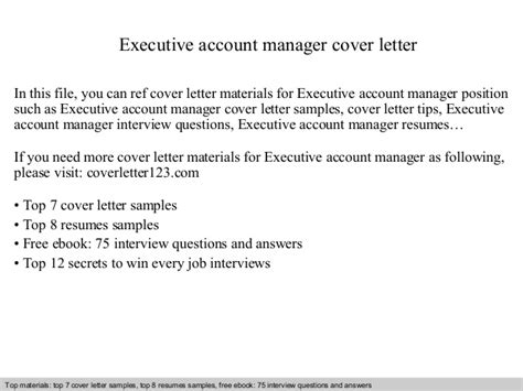 account executive cover letter executive account manager cover letter