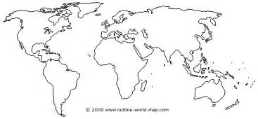 The World Outline Map by A Blank Map Of The World