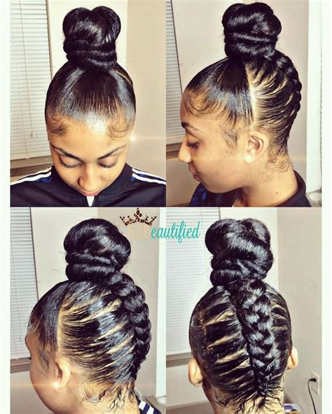 black updo ponytails creative living hair flair love it see more styles