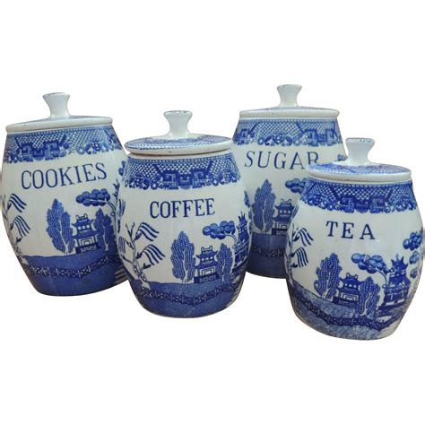 Blue Kitchen Canister Sets by Blue Willow Canister Set Sold On Ruby Lane
