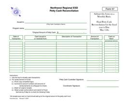 Petty Form Template by Petty Reconciliation Form Template Accounting Petty