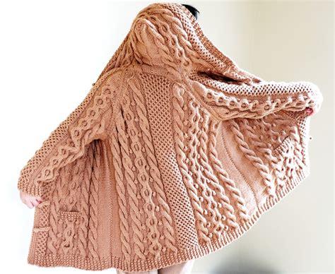 chunky aran knitting patterns knit chunky cable aran fisherman sweater