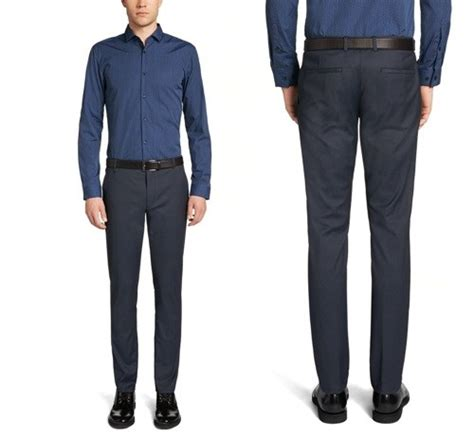 Celana Kantor Formal Slim Fit Pria celana kantor slim fit model celana pria terbaru untuk kantor dari hugo fashion jual beli