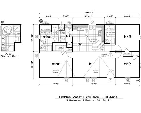 golden west exclusive floorplans 5starhomes manufactured
