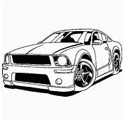 Coloring FORD Mustang Free  Cars And Vehicles To Print