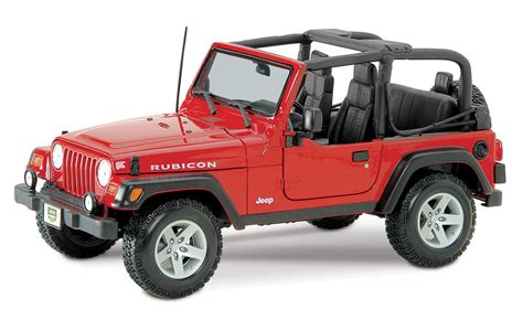 red toy jeep jeep 1 18 red rubicon jp3900