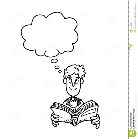 read doodle reading book doodle stock vector image 61936782