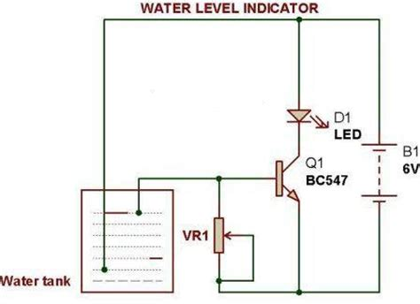 water level indicator project with circuit diagram water level indicator