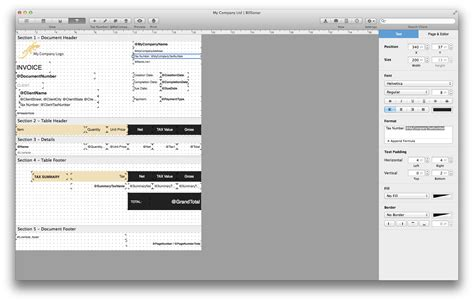 layout editor for mac os x billsonar invoice apple mac os x