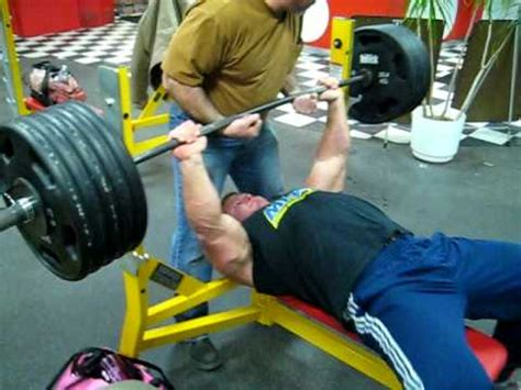 500 pounds bench press derek poundstone 500 lb bench press for reps youtube