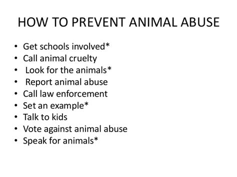 7 Ways To Stop Abuse by Ib Exhibition Topic Animal Abuse Rm 14