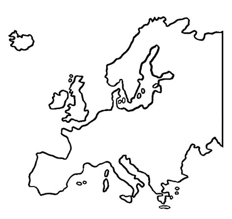 Modern History Of Europe Outline by Western Europe Map Clip 36