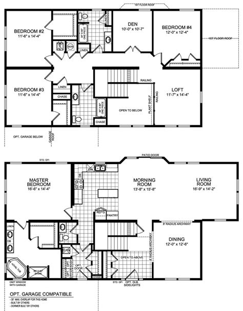five bedroom floor plans modular housing construction solstice series floor plans