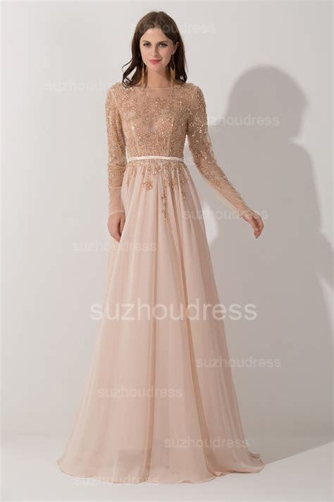 Sleeve A Line Evening Dress new a line beadings evening dresses backless bateau floor