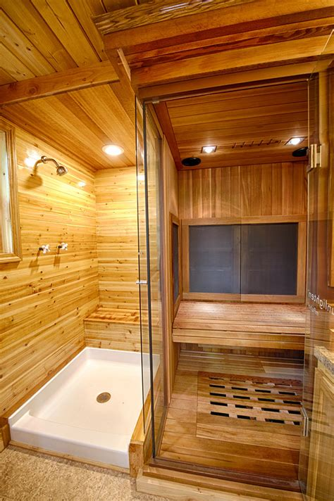 sauna in a tiny house sacred habitats