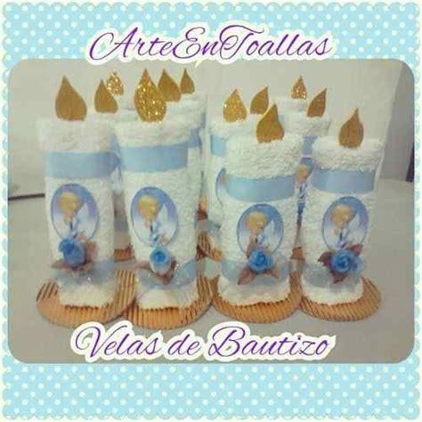 velas hechas con toallas faciales para recuerdos de bautizo o primera comunion recuerdos souvenirs velas de bautizo en toallas tela souvenirs and d