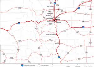 colorado county road map map of colorado