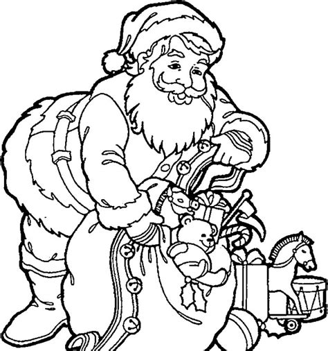 coloring pictures of christmas stuff santa christmas eve stuffed stuff coloring page kids