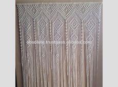 White Macrame Door Window Curtains - Buy Fancy Window ... Fancy Office