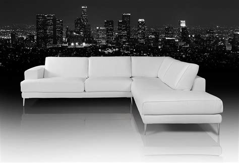 modern white sectional dima mirage modern white leather sectional sofa