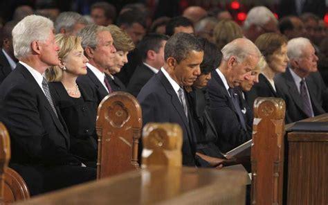 obamas clintons  bushs  travel  south africa  mandela funeral   refuge