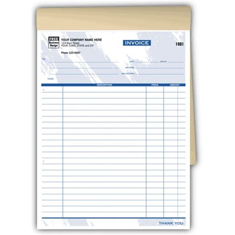 handwritten invoice template carbonless invoices 6544 at print ez